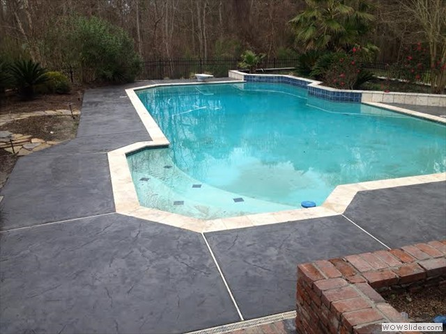 New Orleans Stamped Pool Deck