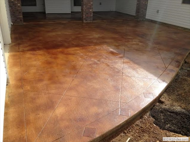 New Orleans Stained Concrete